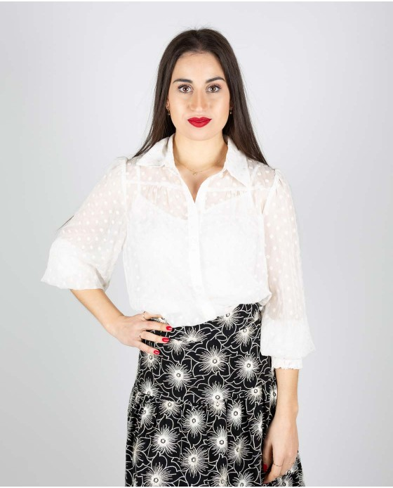 BLUSA TRAFFIC PEOPLE CHICA MELLOW CREAM
