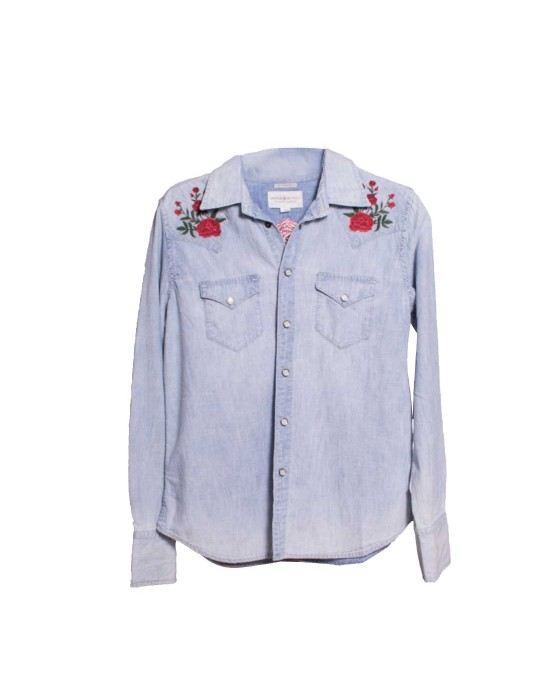 CAMISA STREET CHICA DENIM&SUPPLY COWGRIL-LONG COWGRIL-LONG BLUE
